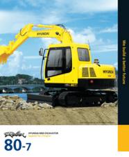Hyundai Mini Excavator R80-7 Brochure