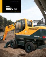 180 wheeled excavator