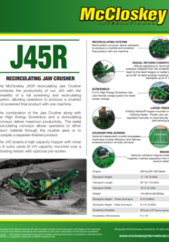 J45R jaw crusher brochure